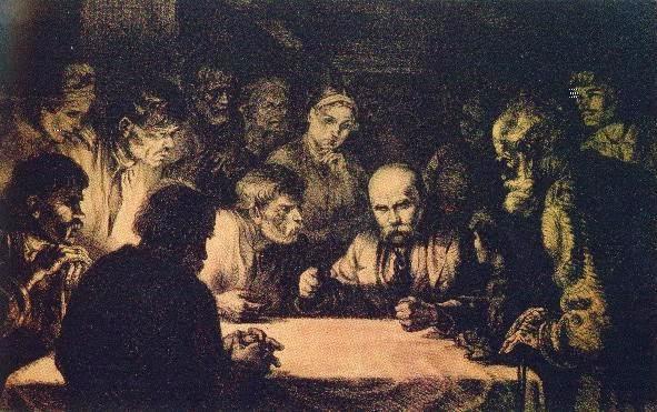 В. Касіян. «Шевченко серед селян», 1938 рік