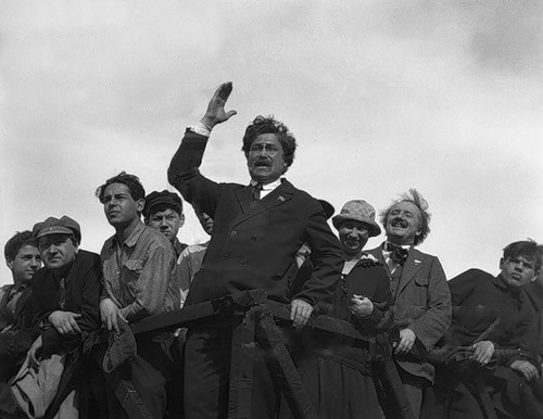 Председатель СВБ Е.П. Ярославский на митинге
