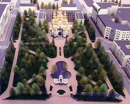 В центре Харькова на месте аллеи построят храм