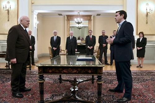 Алексис Ципрас даёт присягу